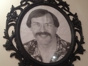 Framed photo of Larry Wall